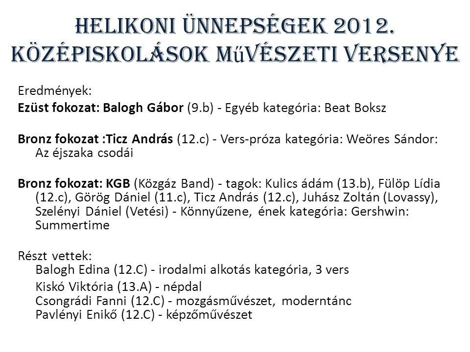 Helikoni Ünnepségek 2012.