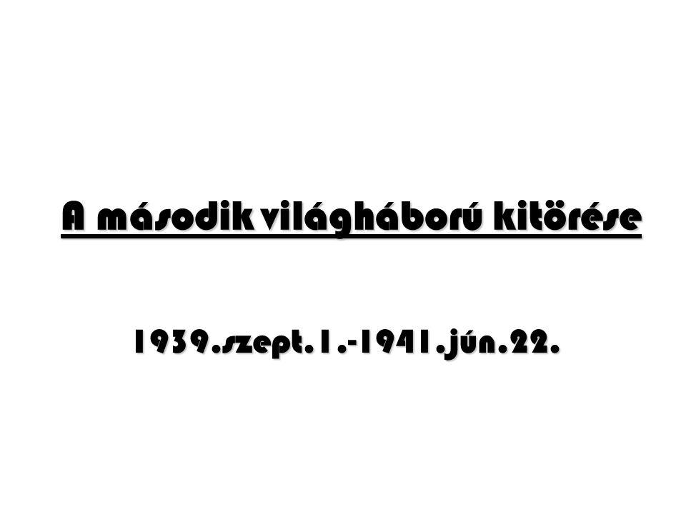 II.A II. vh. előzményei 1933. okt. – 1934: német újrafegyverkezés 1936.