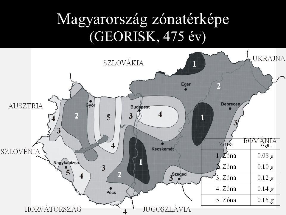 Magyarország zónatérképe (GEORISK, 475 év)
