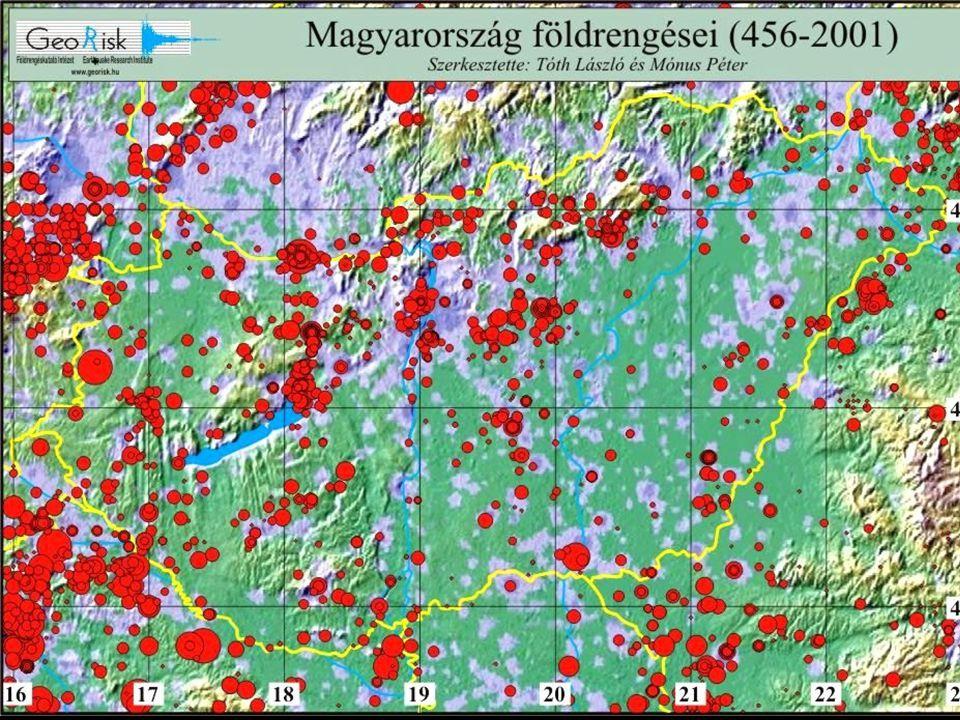 Fontosabb magyarországi földrengések IdőHelyM 456.