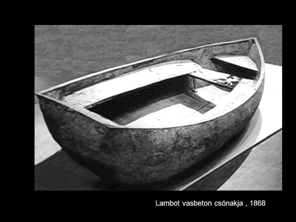 Lambot vasbeton csónakja, 1868