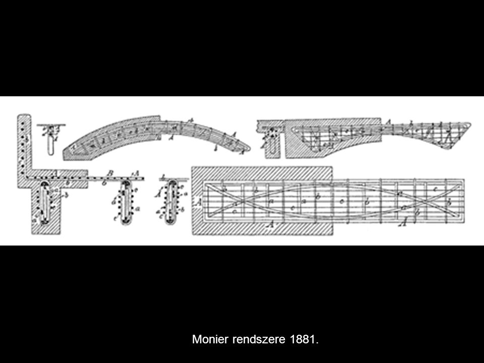Monier rendszere 1881.