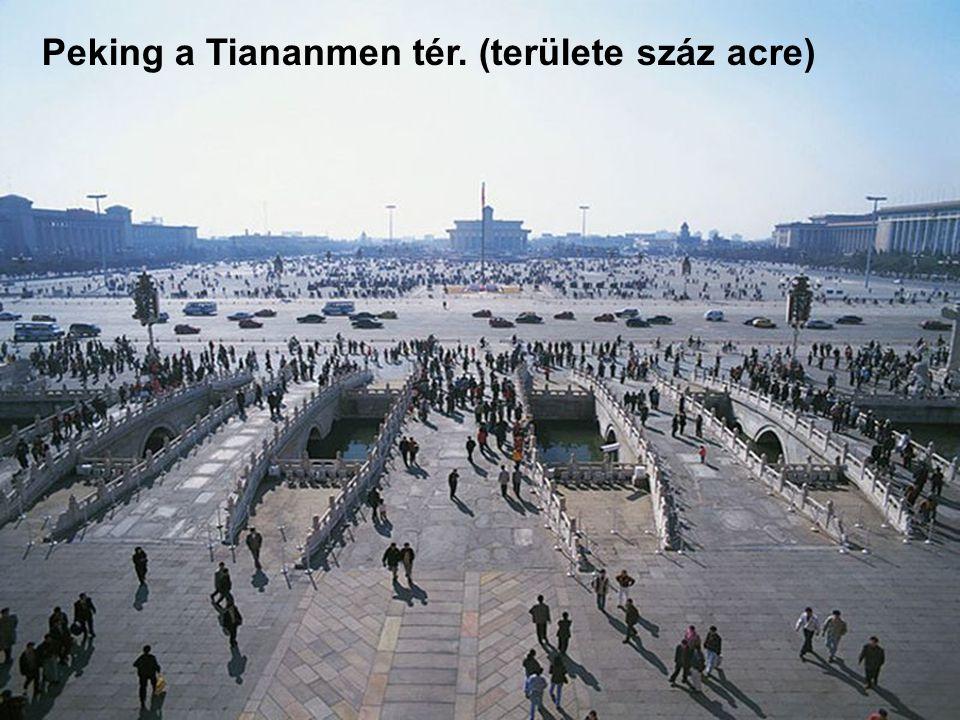 Peking a tiltott város látképe
