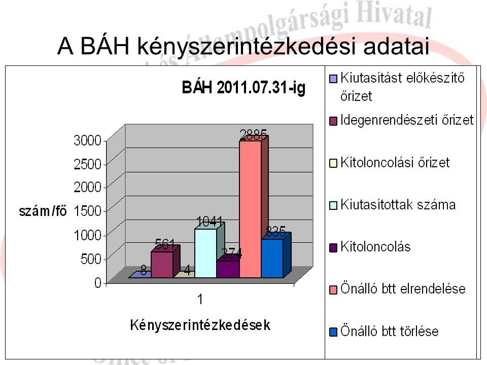 A BÁH kényszerintézkedési adatai