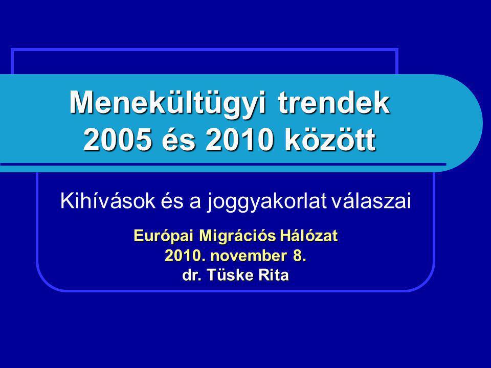 Menekültügyi trendek 2005 és 2010 között Kihívások és a joggyakorlat válaszai Európai Migrációs Hálózat 2010.