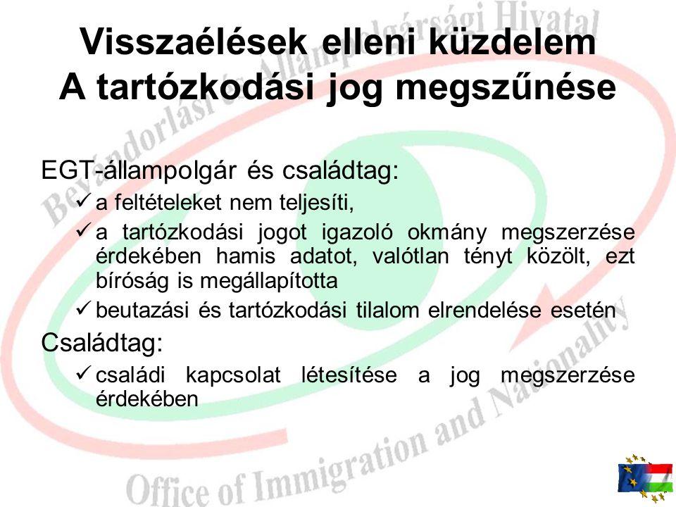 A szabad mozgás és tartózkodás jogával rendelkező személyek beutazásáról és tartózkodásáról szóló 2007. évi I. törvényt és végrehajtási rendeletét éri