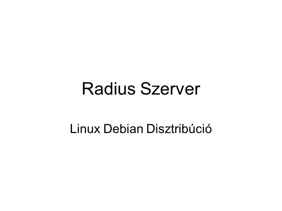 Radius Szerver Linux Debian Disztribúció