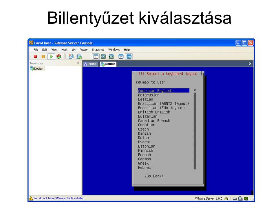 Szükséges csomagok telepítése Mysql-Server Phpmyadmin Ssl Freeradius Freeradius-mysql Dialup-admin