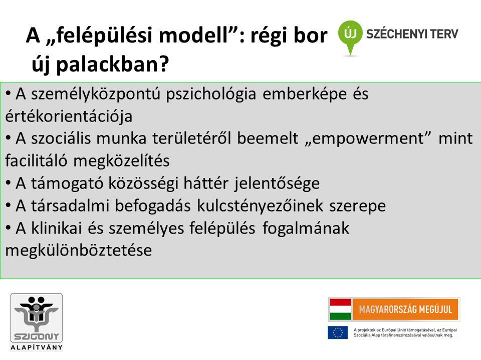 """A személyközpontú pszichológia emberképe és értékorientációja A szociális munka területéről beemelt """"empowerment"""" mint facilitáló megközelítés A támog"""