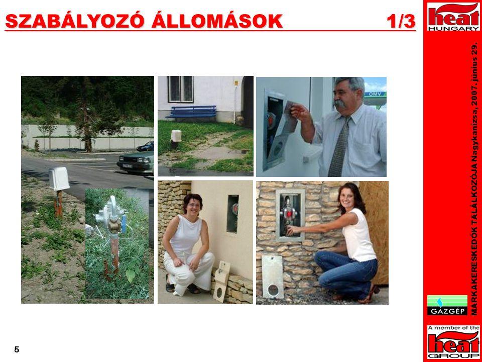 5 SZABÁLYOZÓ ÁLLOMÁSOK 1/3 MÁRKAKERESKEDŐK TALÁLKOZÓJA Nagykanizsa, 2007. június 29. 5
