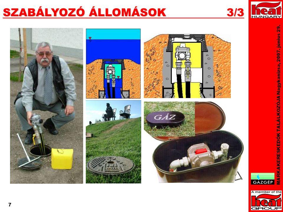 7 SZABÁLYOZÓ ÁLLOMÁSOK 3/3 MÁRKAKERESKEDŐK TALÁLKOZÓJA Nagykanizsa, 2007. június 29. 7