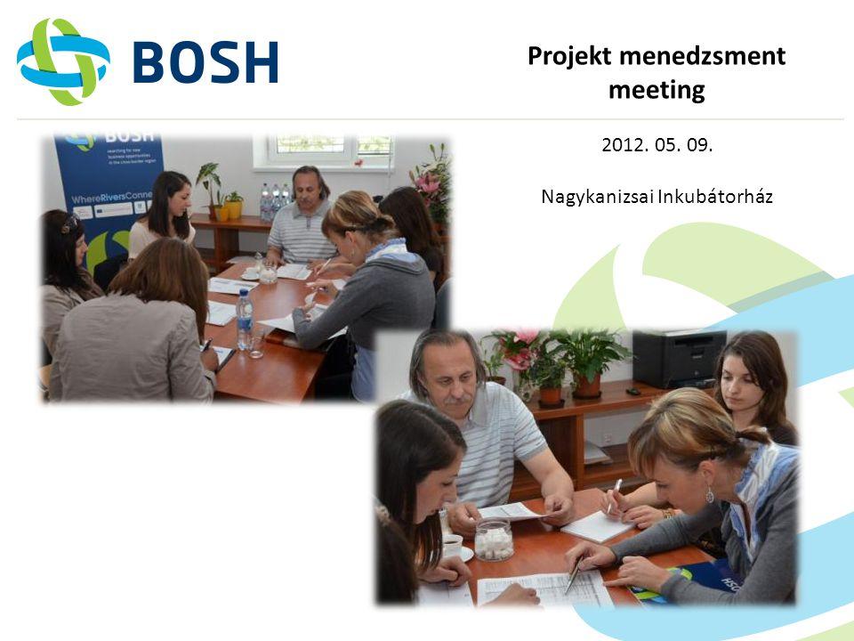 Projekt menedzsment meeting 2012. 05. 09. Nagykanizsai Inkubátorház