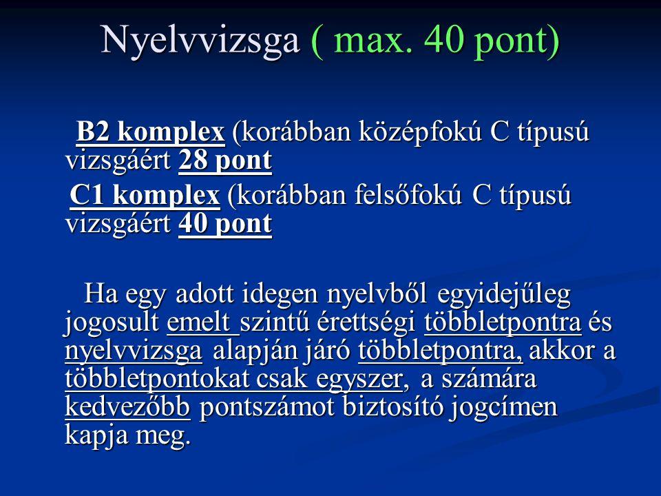 Nyelvvizsga ( max.