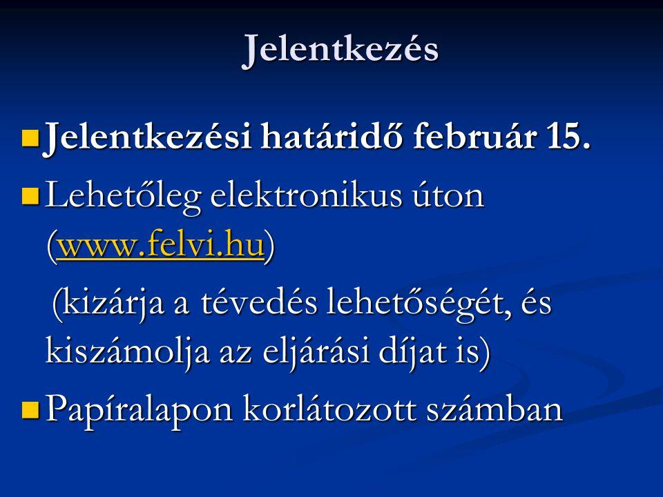 Jelentkezés Jelentkezési határidő február 15. Lehetőleg elektronikus úton ( wwww wwww wwww....