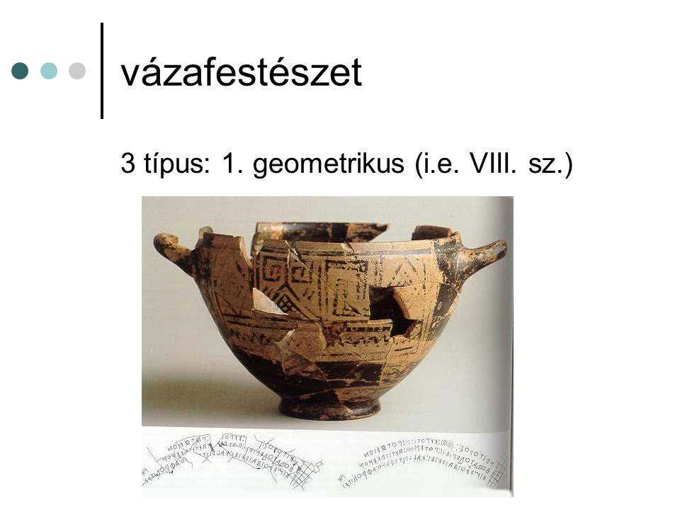 vázafestészet 3 típus: 1. geometrikus (i.e. VIII. sz.)