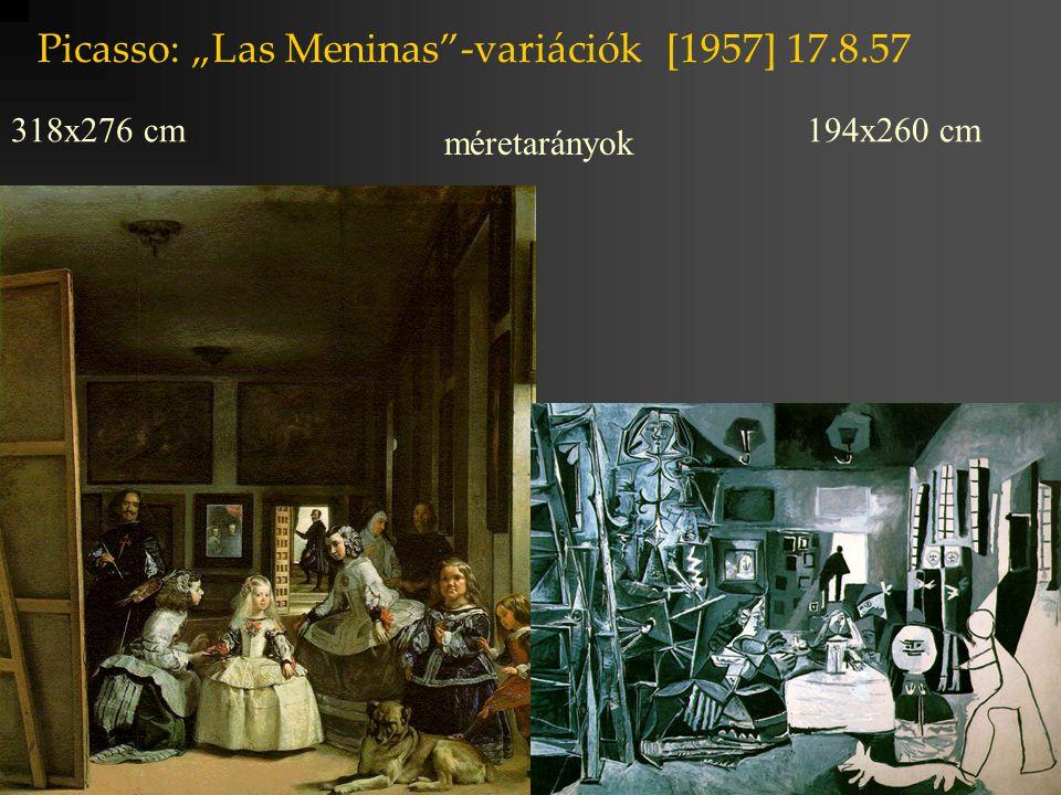 """Picasso: """"Las Meninas -variációk [1957] 2.10.57."""