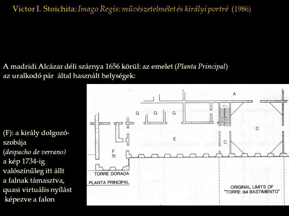 Victor I. Stoichita: Imago Regis: művészetelmélet és királyi portré ( 1986) A madridi Alcázar déli szárnya 1656 körül: az emelet (Planta Principal) az