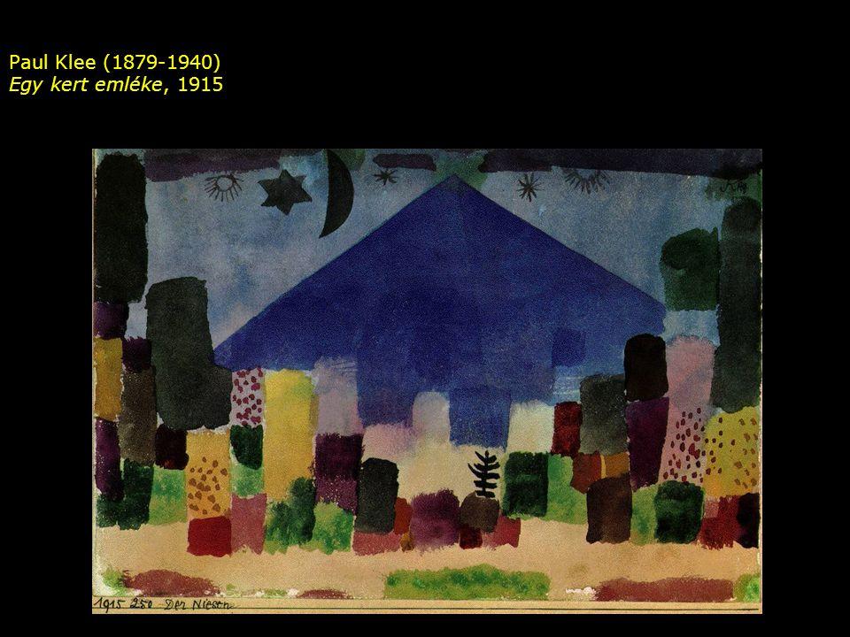 Paul Klee (1879-1940) Egy kert emléke, 1915