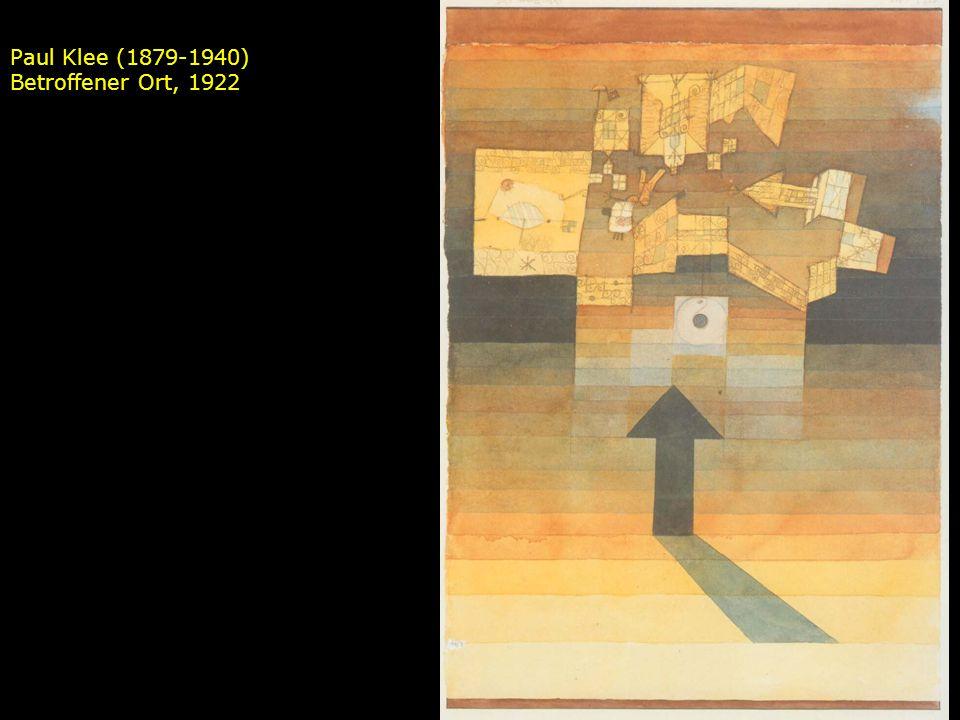 Paul Klee (1879-1940) Betroffener Ort, 1922