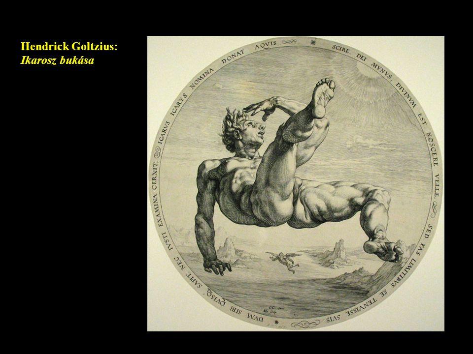 Hendrick Goltzius: Ikarosz bukása