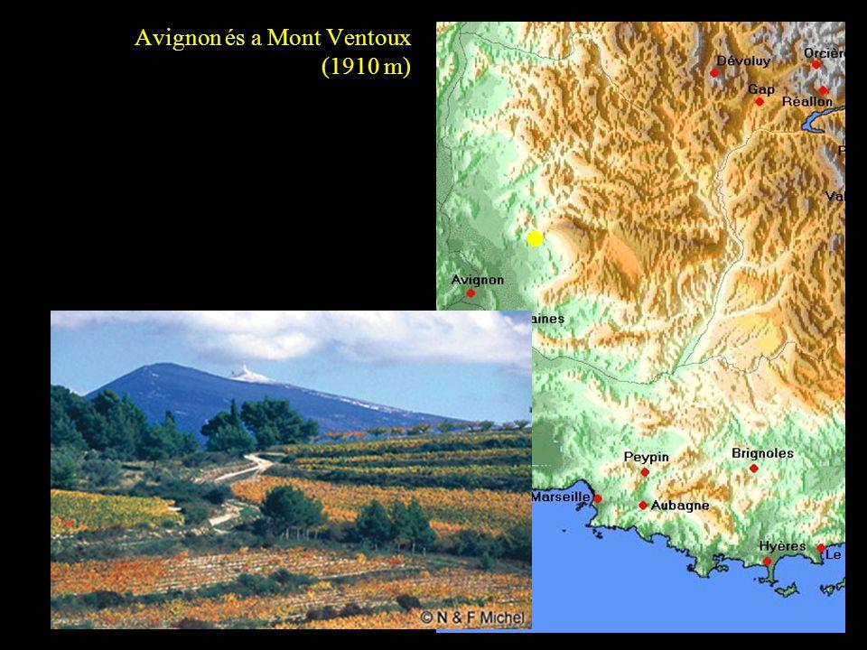 Avignon és a Mont Ventoux (1910 m)
