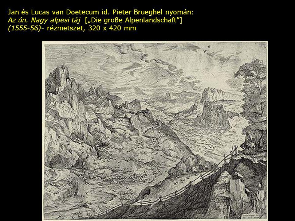 Jan és Lucas van Doetecum id. Pieter Brueghel nyomán: Az ún.