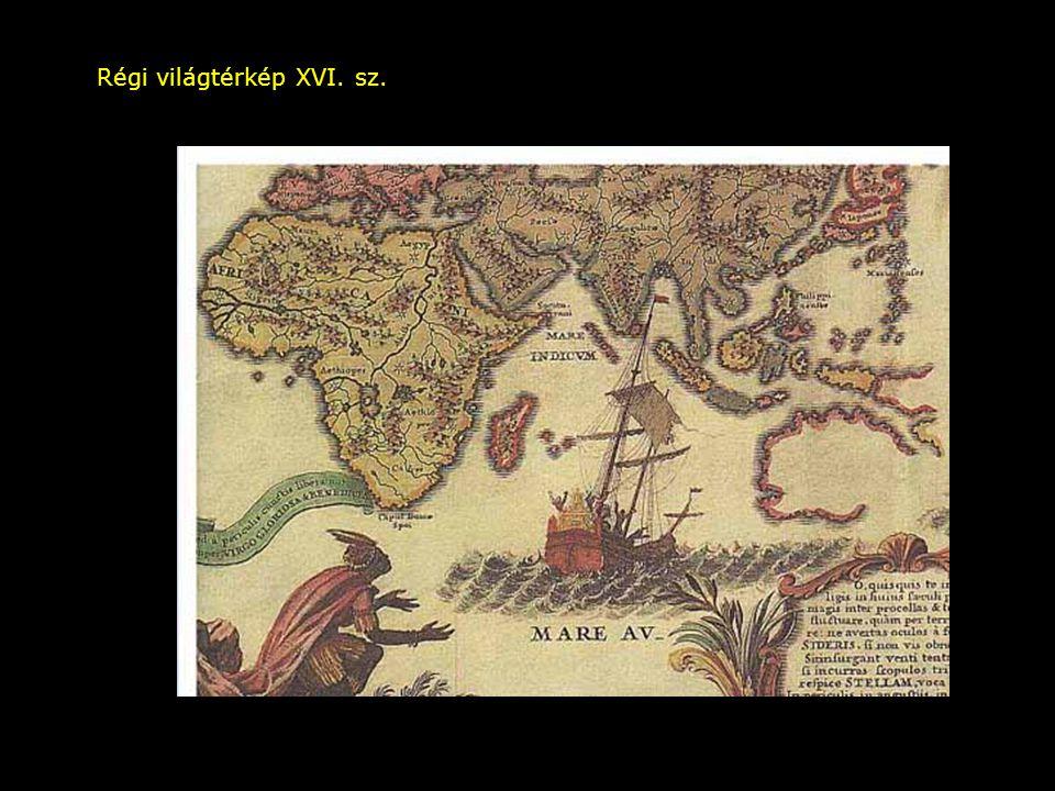 Régi világtérkép XVI. sz.