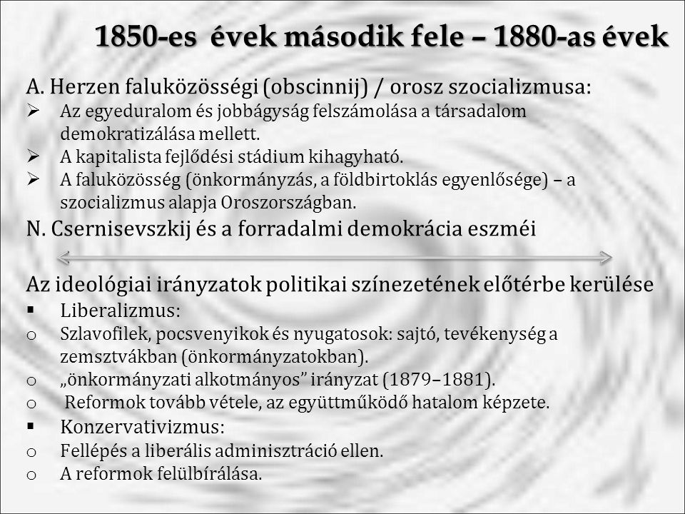 1850-es évek második fele – 1880-as évek A.