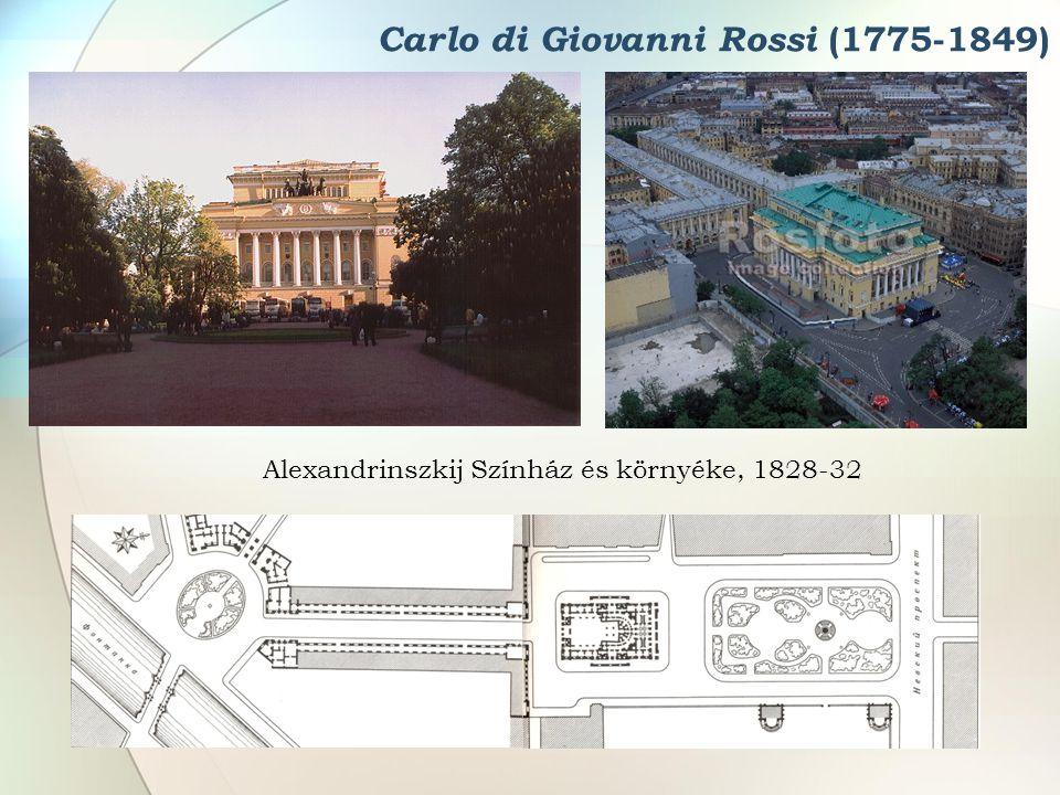 Carlo di Giovanni Rossi (1775-1849) Alexandrinszkij Színház és környéke, 1828-32