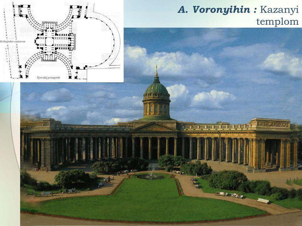 A. Voronyihin : Kazanyi templom