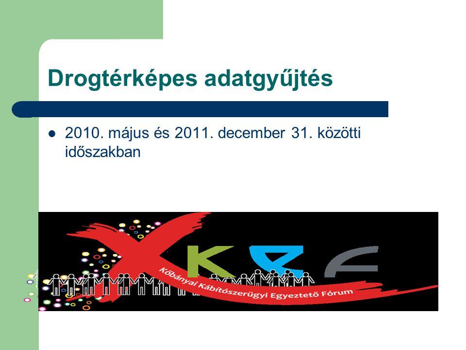 Drogtérképes adatgyűjtés 2010. május és 2011. december 31. közötti időszakban