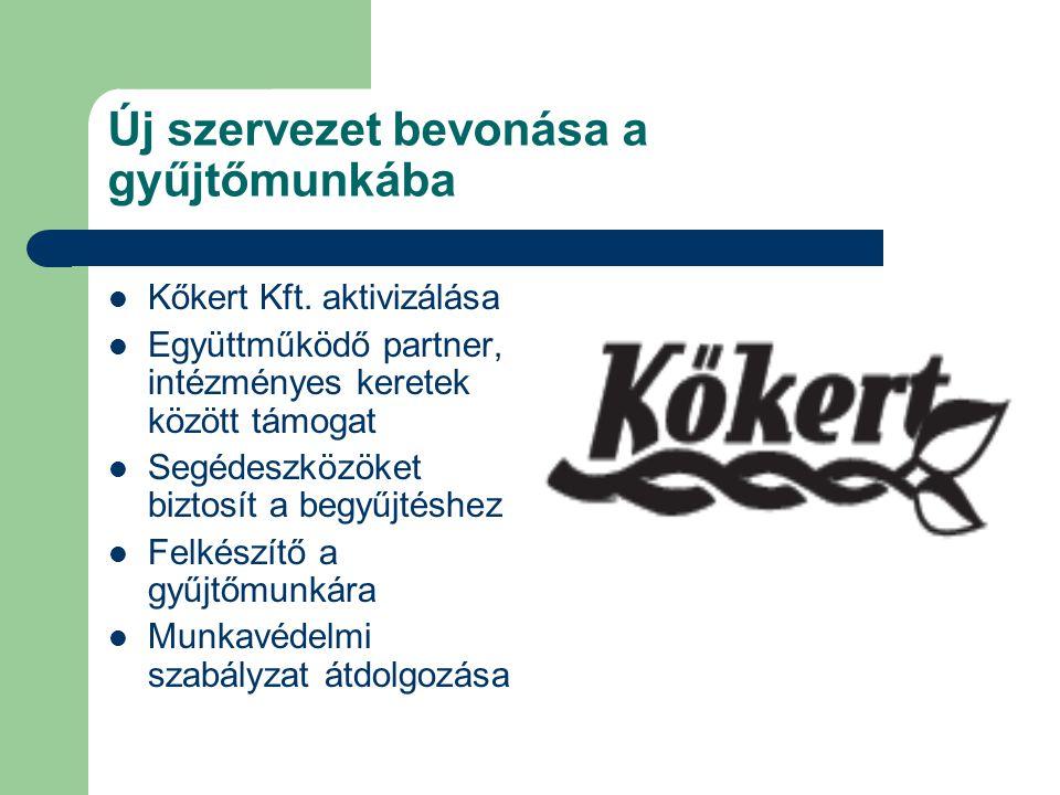 Új szervezet bevonása a gyűjtőmunkába Kőkert Kft.