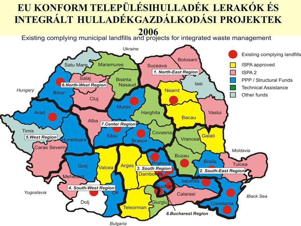 EU KONFORM TELEPÜLÉSIHULLADÉK LERAKÓK ÉS INTEGRÁLT HULLADÉKGAZDÁLKODÁSI PROJEKTEK 2006