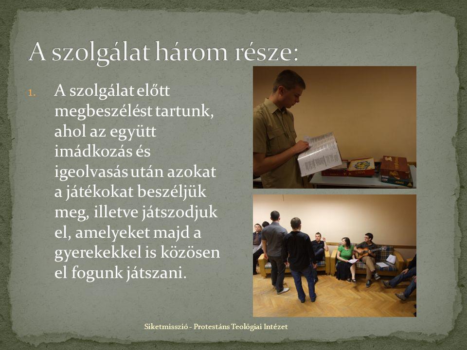 Siketmisszió - Protestáns Teológiai Intézet 1.