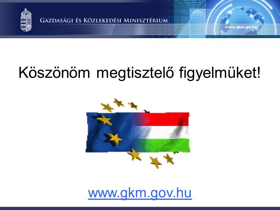 Köszönöm megtisztelő figyelmüket! www.gkm.gov.hu