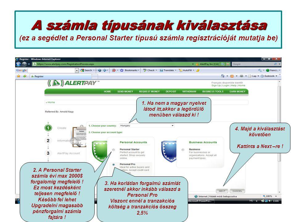 A regisztrációs űrlap kitöltése A regisztrációs űrlap kitöltése FIGYELEM: ékezetek nélkül írj .