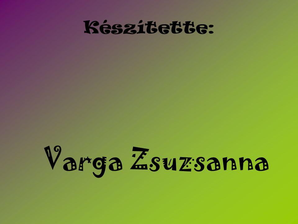 Varga Zsuzsanna Készítette: