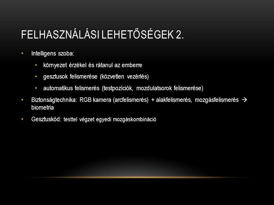 FELHASZNÁLÁSI LEHETŐSÉGEK 2.