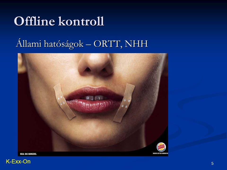 Offline kontroll 5 Állami hatóságok – ORTT, NHH K-Exx-On