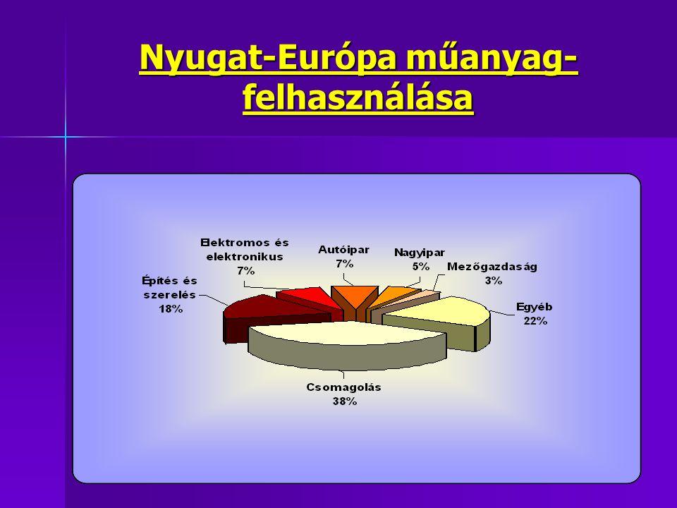 Nyugat-Európa műanyag- felhasználása