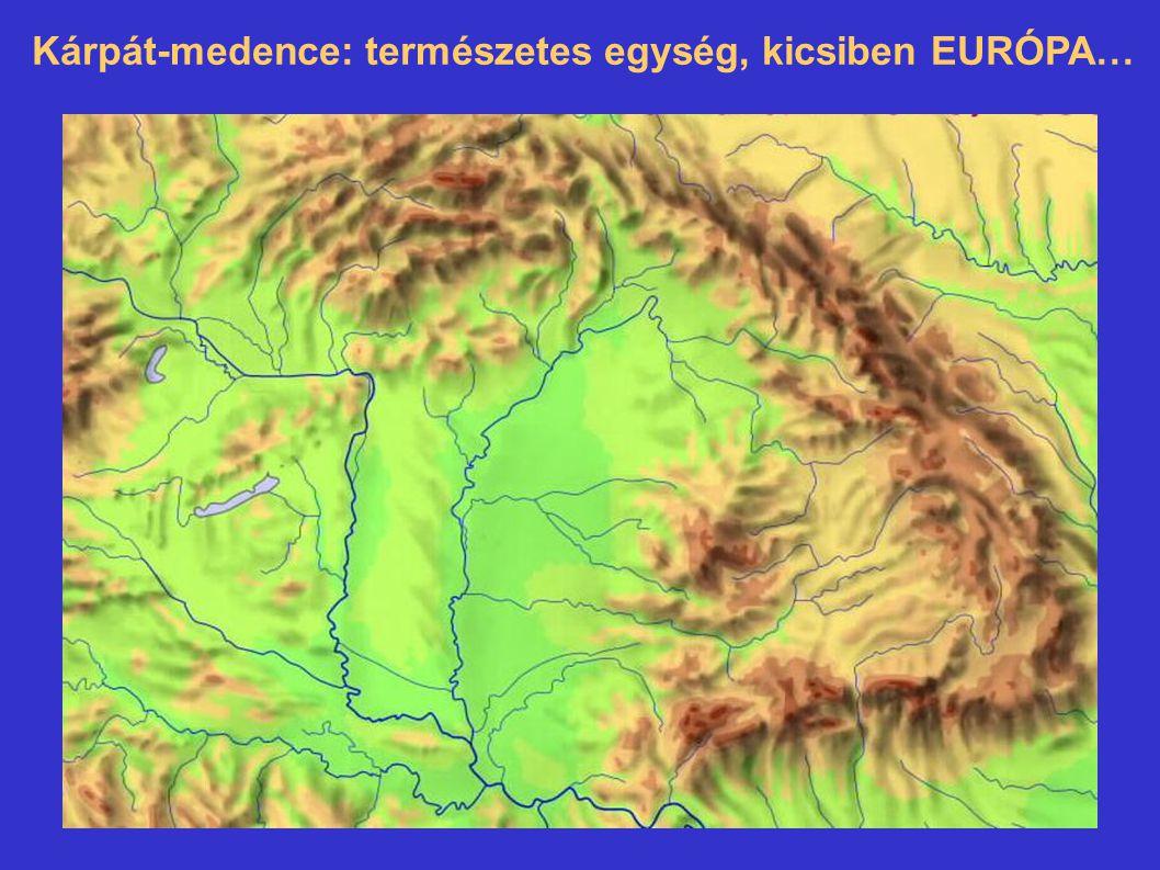 Kárpát-medence: természetes egység, kicsiben EURÓPA…