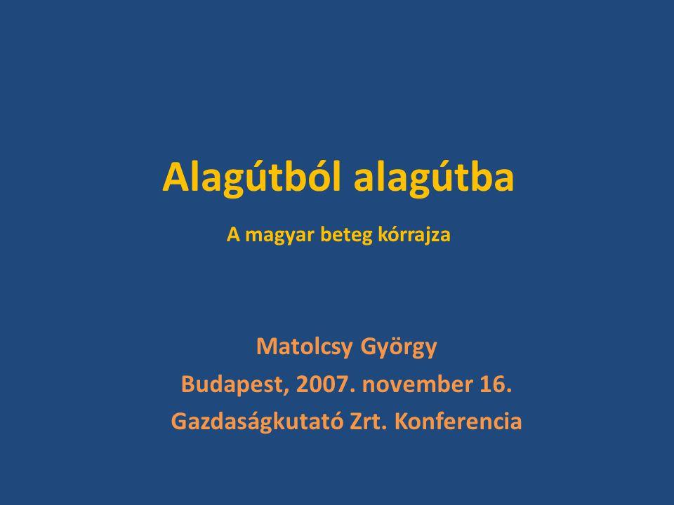 Alagútból alagútba A magyar beteg kórrajza Matolcsy György Budapest, 2007.