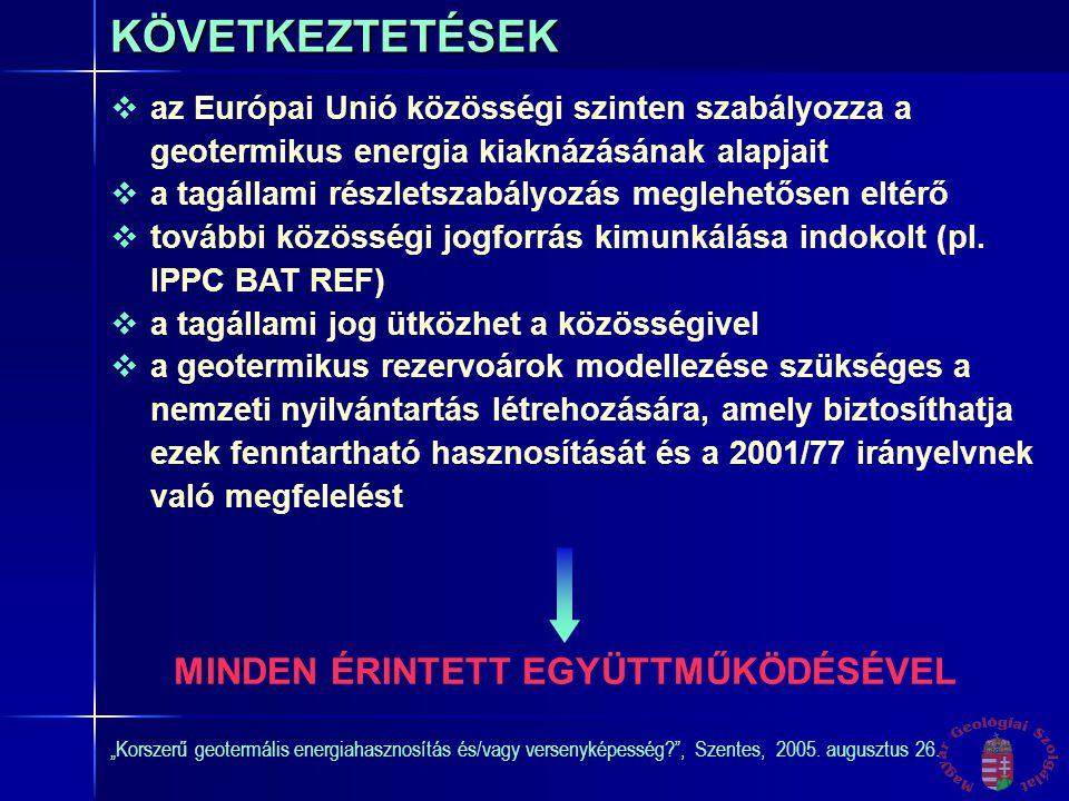 """""""Korszerű geotermális energiahasznosítás és/vagy versenyképesség , Szentes, 2005."""