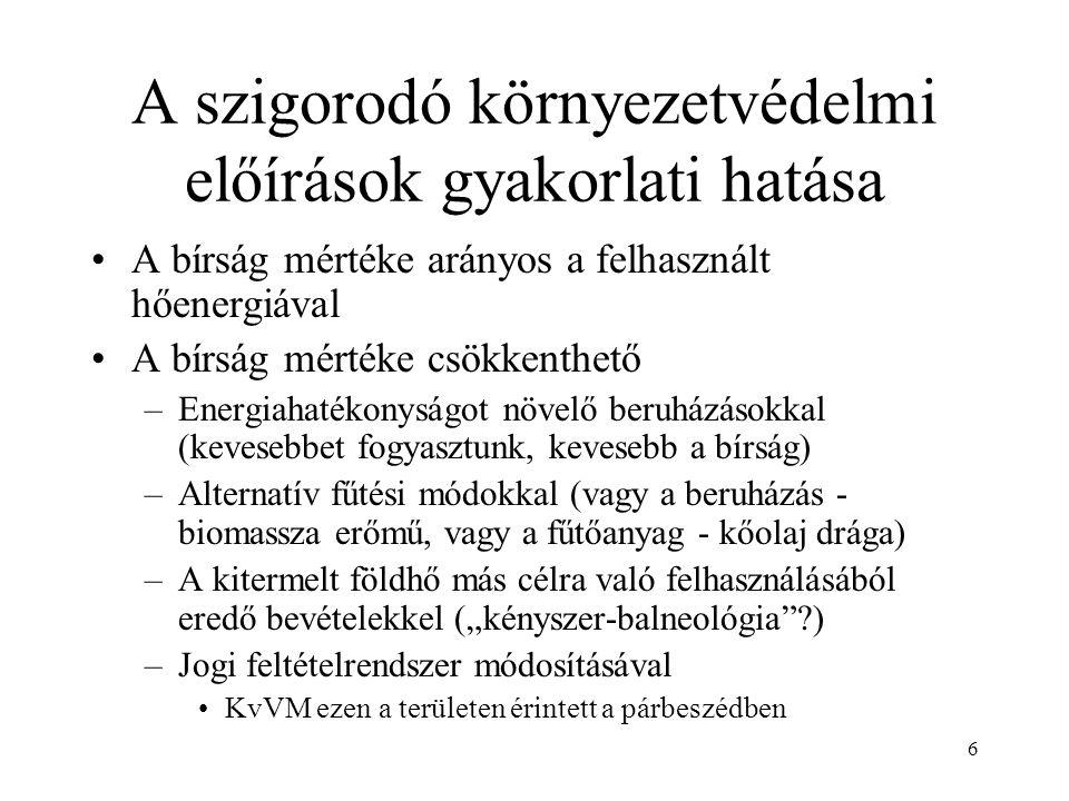 7 A párbeszéd kronológiája MGtE több alkalommal levélben megkereste KvVM-t KvVM és MGtE 2004.12.10-én egyeztetést folytattak –Munkabizottság alakult 2005.01.20-2005.04.