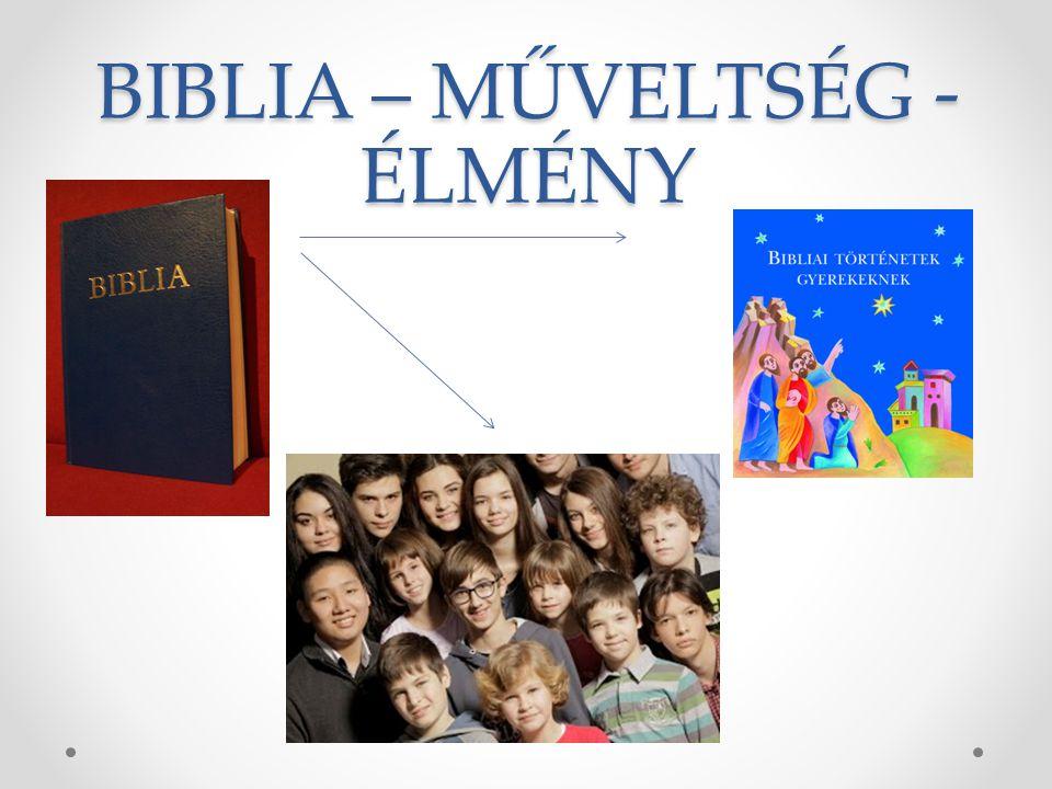 Az alapműveltség fontos része a Biblia ismerete A hit- és erkölcstan órákon szentírási történeteket tanulunk.