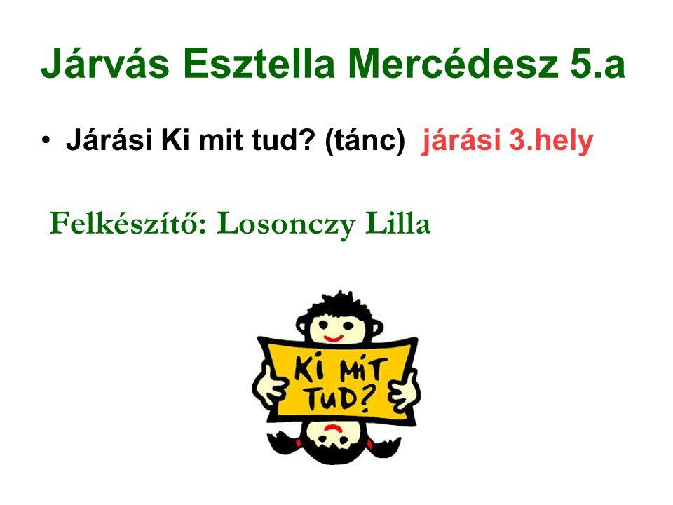 Konkoly Krisztina Andrea 5.a Wescast Kupa Súlyemelő Verseny megyei 1.