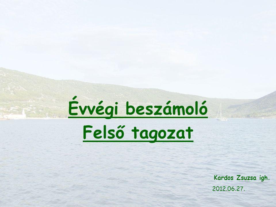 Évvégi beszámoló Felső tagozat Kardos Zsuzsa igh. 2012.06.2 7.
