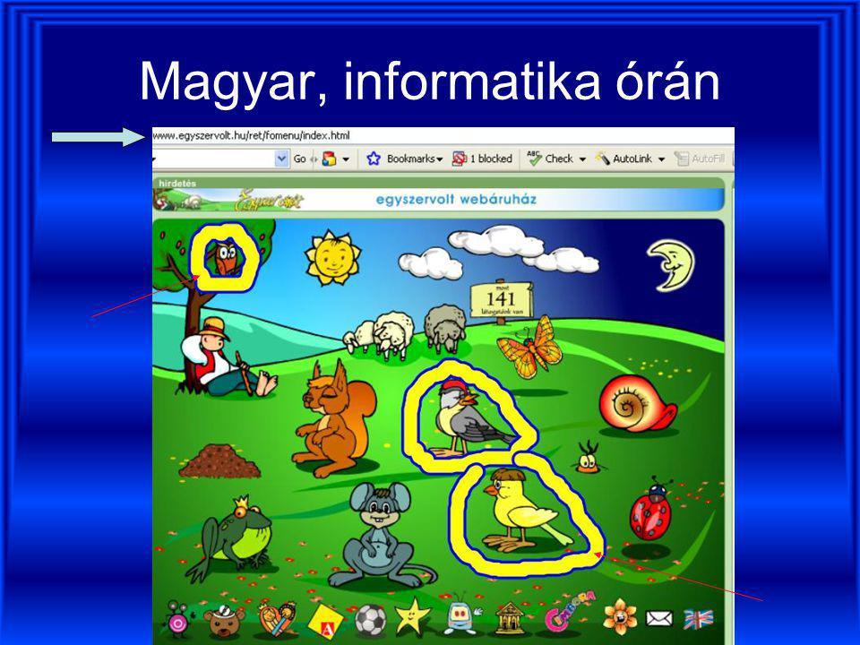 Magyar, informatika órán