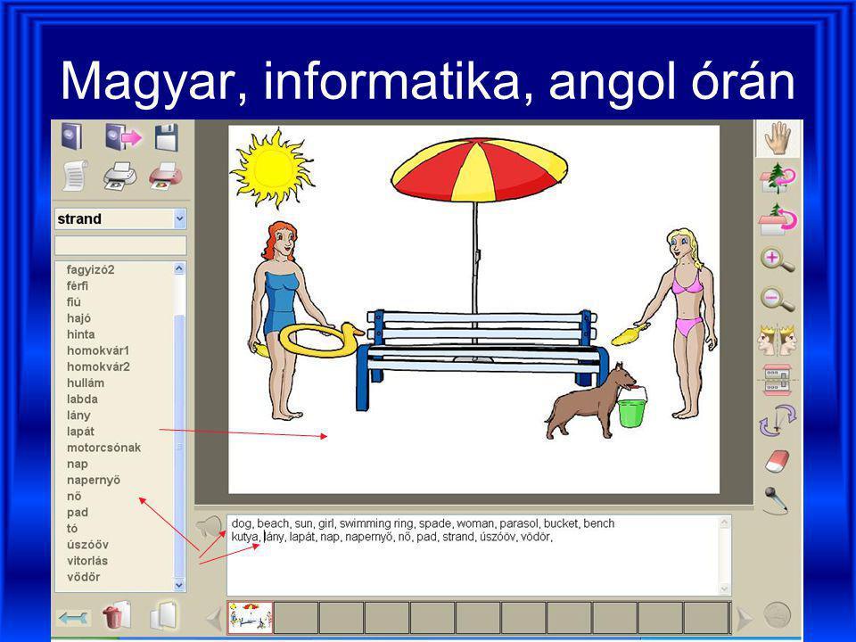 Magyar, informatika, angol órán
