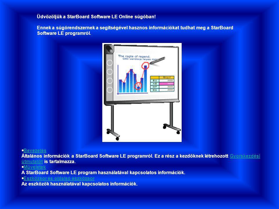 Üdvözöljük a StarBoard Software LE Online súgóban.